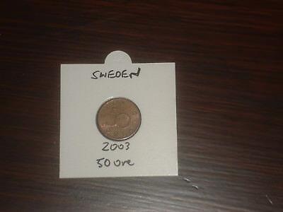 2003 Sweden 50 Ore coin Swedish fifty ores