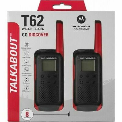 MOTOROLA Talkabout T62, Walkie Talkie, Two-way Consumer Radio, Red