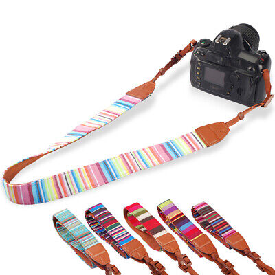Universal Vintage Camera Shoulder Neck Belt Strap For Canon Nikon Sony SLR DSLR