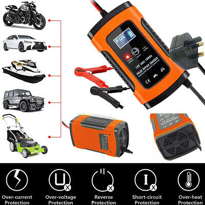 12v Automatic Electronic Intelligent Smart Fast Battery Charger Car Motorbike UK