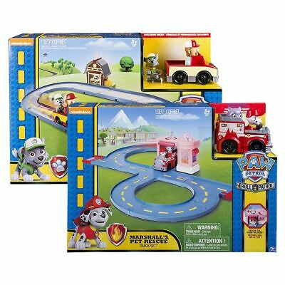 New Paw Patrol Marshall's Pet Rescue Or Rocky's Barn Rescue Track Set Official