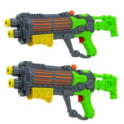 2 X Green Water Machine Gun Style Pump Action Water Pistol Stormtrooper 940