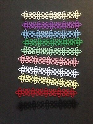 10  Various colour flower border die cuts  - great for scrapbooking/cardmaking