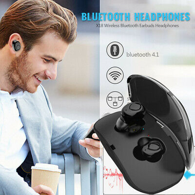 TWS True X18 Mini Wireless Earbuds Bluetooth Cordless Earphones HIFI Super Bass