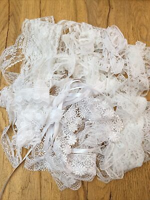 New Vintage Pearl Lace Ribbon Bundles ass//desigs  £3.20 or £5.45 for 20mt free p