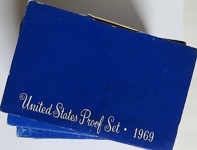 Ten 1969 S United States Proof Sets - Combine Shipping Available