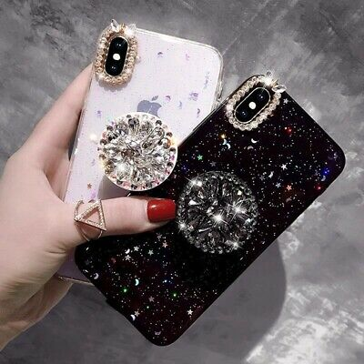 Glitter Bling Sparkle Case with Pop Up Phone Holder for iPhone X XR MAX 6 7 8