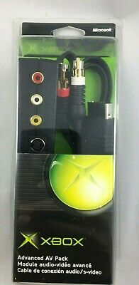 NEW OEM Original Microsoft Xbox Advanced AV PACK S VIDEO OPTICAL RCA Cables