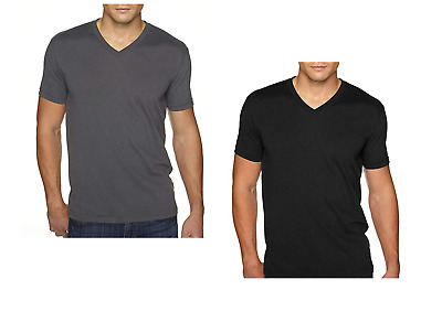 735097882b96 Next Level Apparel 6440 Mens Premium Fitted Sueded V-Neck Tee -2 Pack Black
