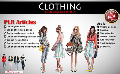 500+ PLR Articles on Clothing Niche Private Label Rights