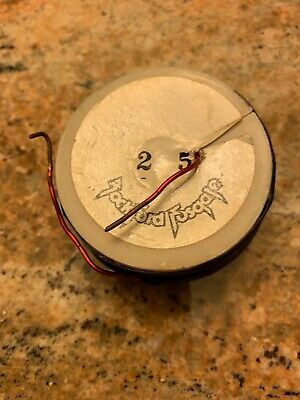 2 0 MH INDUCTOR WOOFER (BASS) CROSSOVER COIL 16ga VINTAGE