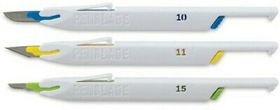 """No 10.11.15 /"""" Retractable Stainless Steel Blade 3 Pack Set/"""" PenBlade Inc"""