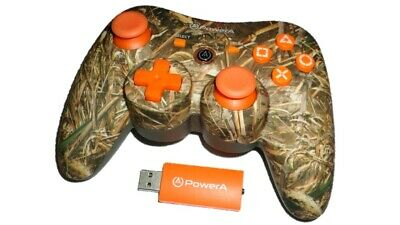 PowerA Pro Realtree Wireless Controller for PS3 (Came Orange) Limited Edition