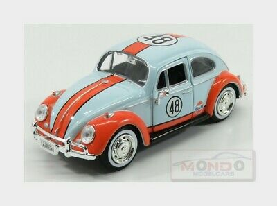 Volkswagen beetle Kafer #48 Gulf 1966 Light Blue Orange MOTORMAX 1:24 MTM79655 M