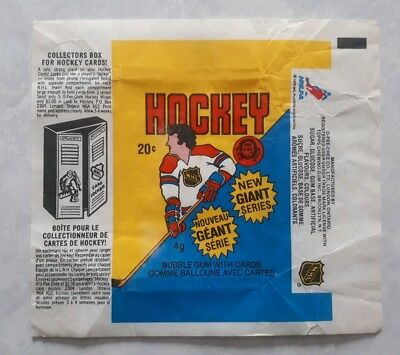 1980-81 OPC O-Pee-Chee Hockey Wax Wrapper Excellent no tears
