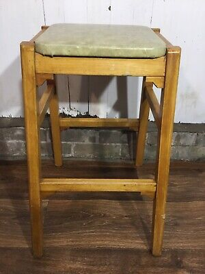 Vintage Retro Wooden Stool By O Quitman