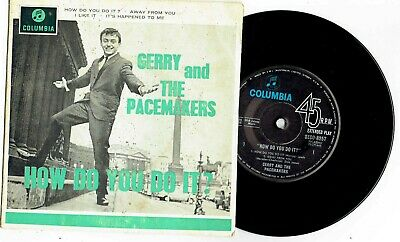 "GERRY AND THE PACEMAKERS - HOW DO YOU DO IT? - RARE 7"" EP RECORD w PICT SLV 1963"