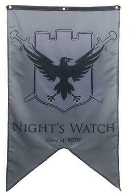 "Calhoun Game of Thrones House Sigil Wall Banner (30"" by 50"") (Night's Watch)"
