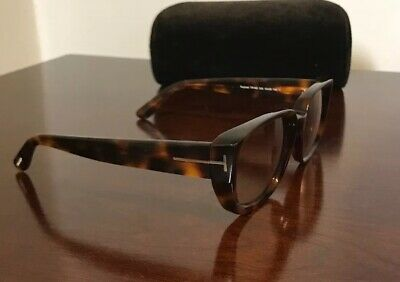 b4f519f56fdbe New Authentic Tom Ford Samantha 02 TF533 53F Havana Cat Eye Sunglasses