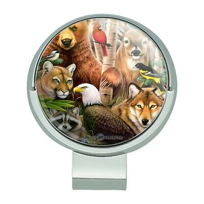 Bear Eagle Cougar Wolf Animals Golf Hat Clip With Magnetic Ball Marker f3b77c4e613c
