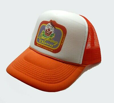 6c53a951db8 Talladega Nights Laughing Clown Malt Liquor Trucker Hat Snap back Cap  Orange new
