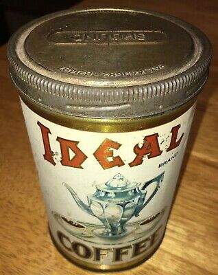 Vintage Ideal 1 Lb Coffee Can