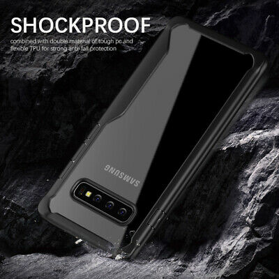 For Samsung Galaxy S10 Plus S10E S9 S8 Case Shockproof Clear TPU+PC Armor Cover