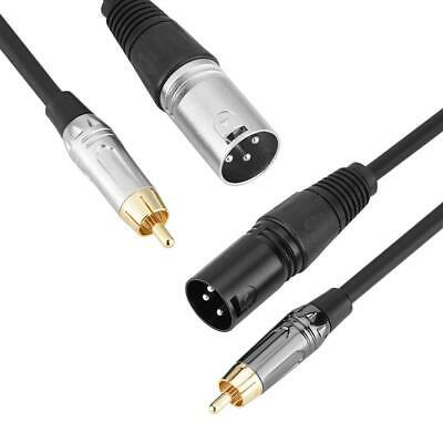 RCA Male to XLR Male Plug Balanced Microphone Cable Audio Mic Cable Lead Cord