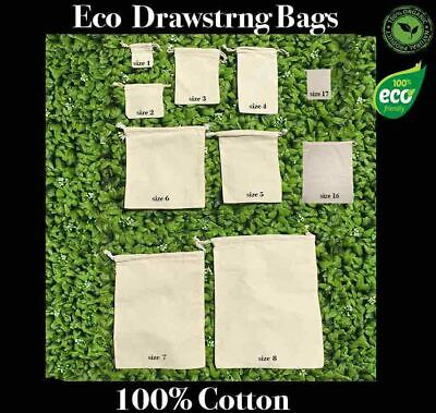 Eco Drawstring Bags Eco Tote Calico Bags Calico Tote bags 100% Cotton 1-200 Lot