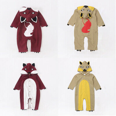 Funny Baby Girls Boys Fox Romper Bodysuit Jumpsuit Clothes Outfits Costume