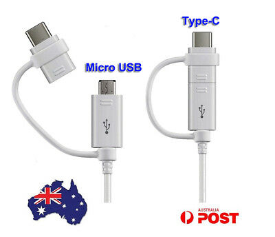 Genuine Samsung Adapter Micro usb Type c Cable Combo Cord For Galaxy S10+ S9 S4