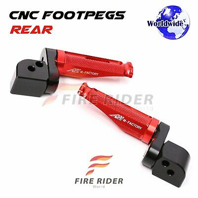 For MV Agusta Brutale All Year 25mm Extended Passenger Footpegs Red