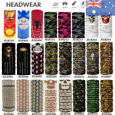 Head Face Mask Bandanas Neck Gaiter Snood Headwear Tube Scarf For Sports Outdoor