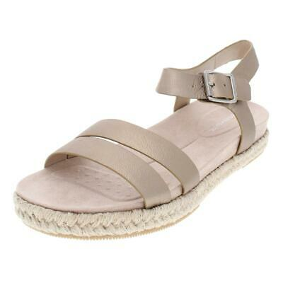 81660e9a41c Easy Spirit Womens Ixia Solid Leather Platform Espadrilles Sandals BHFO 4555