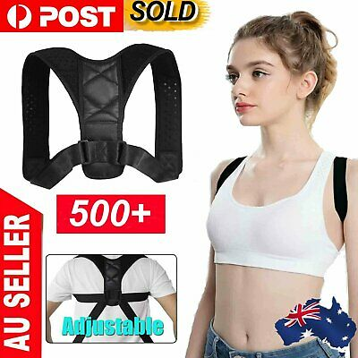 Adjustable Posture Corrector Brace Back Clavicle Shoulder Women Men Strap Straig