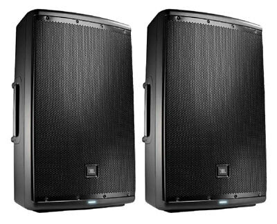 2x JBL EON615 Active Loudspeaker Powered Monitor Speaker Pair