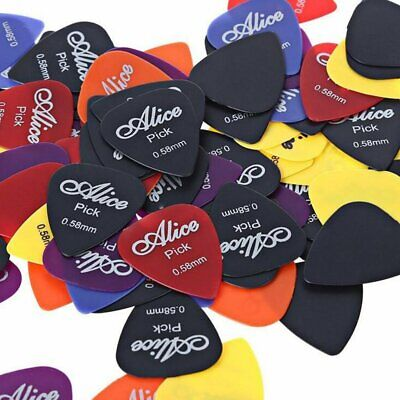 50 Pcs Guitar Picks Acoustic Electric Bass Plectrums Various 6 thickness