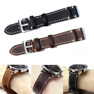 Luxury Genuine Leather Watch Strap Replacement Wrist Band 18 19 20 21 22 23mm