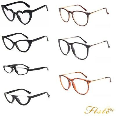 bb0622186a Vintage 50s 60s Style Clear Lens CatEye Office Retro Rockabilly Glasses UK  Stock