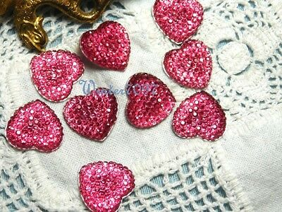 (63)*costume Makers Sellout**flat Back Rhinestones*pink*hearts*new!*