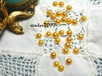 (22)*costume Makers Sellout**flat Back Pearls*golden Peach*round*new!*