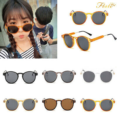d403b6b8dbc Black Round Lens Sunglasses Mens Ladies Womens Vintage Silver Mirrored  Circle UV