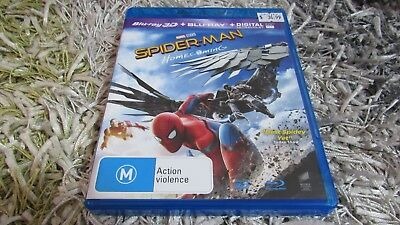 Spider-Man - Homecoming Marvel  ( 3D + Blu-ray, 2017, 2-Disc Set) plus free post