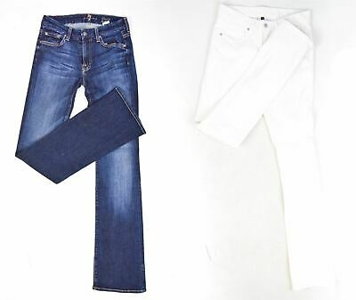 7 FOR ALL MANKIND & RALPH LAUREN Blue Jeans And White Trousers, Size US 27
