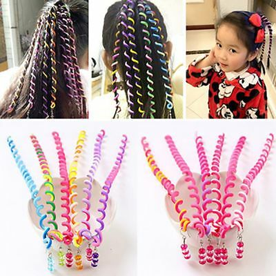 6 Pcs/Set Children Curler Hair Clips Accessories Spiral Twist Hair Styling Tools