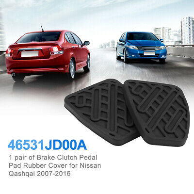 Pair Brake Clutch Pedal Pad Rubber Cover Fit Nissan Qashqai 2007-2016 46531JD00A