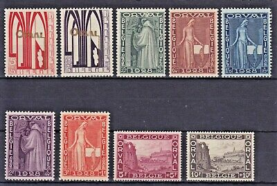 1928  Belgium Orval Abbey , Set of 9 , MH . SG461-469