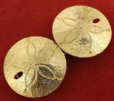 Vintage 1974 Mimi Di N Nautical Beach Sea Shore Sand Dollar Gold Tone Buckle