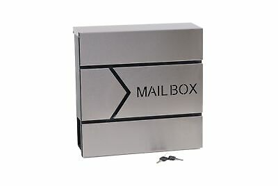 "Moderno Buzon De Acero Inoxidable ""Mail Box""."