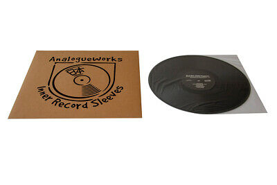 """Analogue Works LP/12"""" Anti-Static Inner Record Sleeves Pack of 100"""